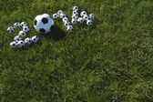 Message for 2014 Made with Football Soccer Balls — 图库照片