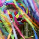 Colorful Rio Carnival Brazilian Man in Mask — Stock Photo