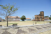 Matriz Plaza and Sao Matias Church in Alcantara Brazil — Stock Photo