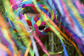 Colorful Rio Carnival Brazilian Man in Mask — Stock Photo
