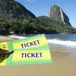 Stock Photo: Brazil Tickets at Red Beach Sugarloaf Rio de Janeiro