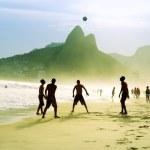 Carioca Brazilians Playing Altinho Futebol Beach Soccer Football — Stock Photo #39215969