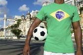 Brazilian Football Player Salvador Elevator with Soccer Ball — Stock Photo