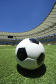 Campo di calcio calcio palla verde erba — Foto Stock