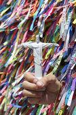 Cristo o desejo brasileiro de lembrança redentor fitas — Fotografia Stock