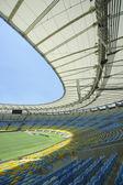 Asientos vacíos maracaná fútbol soccer stadium — Foto de Stock