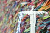 Christ the Redeemer Souvenir Brazilian Wish Ribbons — Stock Photo
