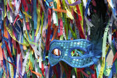 Carnival Mask Brazilian Wish Ribbons — Stock Photo