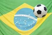 Braziliaanse vlag voetbal bal voetbal — Stockfoto