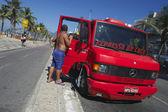Coconut Delivery Truck Rio Brazil — Stock Photo