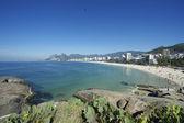 Arpoador ipanema plage rio de janeiro brésil skyline — Photo