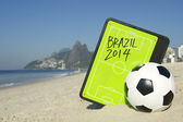 Football Tactics Board Soccer Ball Rio — Stock Photo