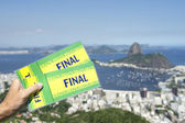 Final Brazil Tickets at Sugarloaf Rio de Janeiro — Стоковое фото