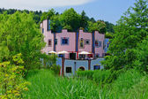 Pink and Blue House — Stock Photo