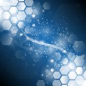 Background blue sparkling — Stock Vector