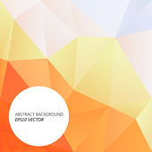Orange polygonal abstract background — Stockvector