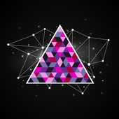 Hipster triangle background — Stock Vector