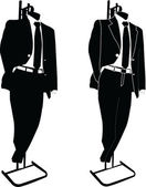 Business suits - vector — Stock Vector