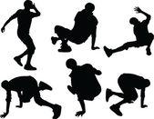 Breakdance - wektor — Wektor stockowy