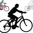 Bike - vector — Stock Vector