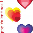 Happy valentines day - vector — Stock Vector