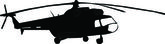 Helicopters silhouette - vector — Stock Vector