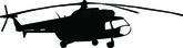 Silueta de helicópteros - vector — Vector de stock