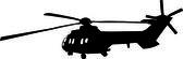 Helikoptery sylwetka - wektor — Wektor stockowy
