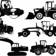 Construction machines - vector — Stock Vector #40676437