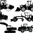 Construction machines - vector — Stock Vector
