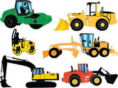 Construction machines - vector — Vector de stock