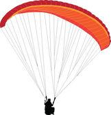 Paragliding - vector — Stock Vector