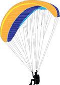 滑翔伞-矢量 — 图库矢量图片