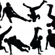 Breakdance collection - vector — Stockvektor