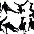 Breakdance collection - vector — Stock vektor