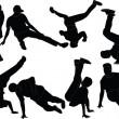 Breakdance collection - vector — Vector de stock