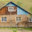 Repair of wooden house — Stock Photo