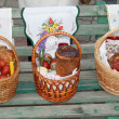 Stock Photo: 3 Easter baskets