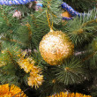 Christmas glass balls on the Christmas tree — Stock Photo