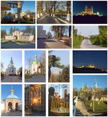 Set of types of Orthodox churches — Stock Photo