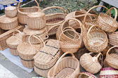 Wicker basket from vines — Stock Photo