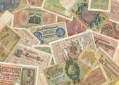 Old German Reichsmarks, 10-30 years of the 20th century — Stock Photo