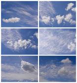 天空夏时制集合. — 图库照片