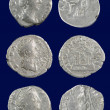 Roman silver coins — Stock Photo