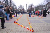 ''Memory of the victims of famine'' 80 anniversary (Golodomor) — Zdjęcie stockowe