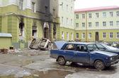 TERNOPOL, UKRAINE-FEB. 19. 2014 .Armed seizure of the police department — Stock Photo