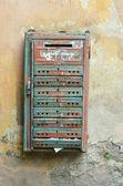 Starý rezavý poštovních schránek — Stock fotografie