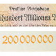 Vintage elements of paper banknotes, Banknote Kaiser's Germany — Stock Photo #45776677