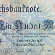 Vintage elements of paper banknotes, Banknote Kaiser's Germany — Stock Photo #45776693
