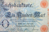 Vintage elements of paper banknotes, Banknote Kaiser's Germany — Stock Photo